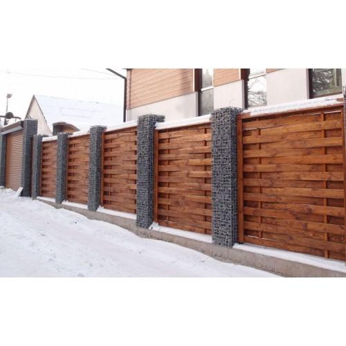 Деревянный забор из сосны «Плетенный»