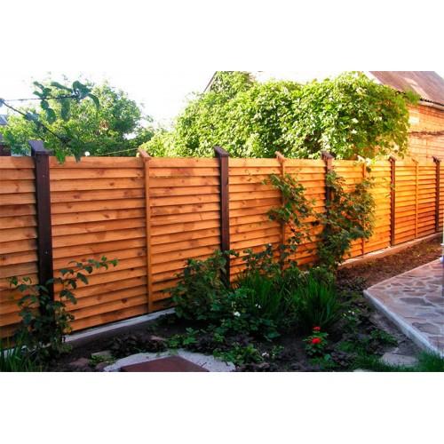 Деревянный забор из сосны «Лесенка»