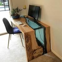 Компьютерный стол из дуба