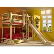 Двухэтажная  кровать с горкой