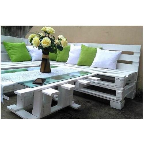 Комплект белых диванов