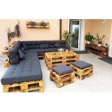 Комплект из диванов, пуфов и стола