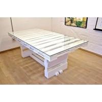 Белый стол из поддонов