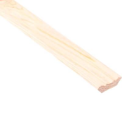 Плинтус Лесстройинвест фигурный срощенный сосна 2500х32х32 мм 2 сорт